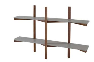 Biplan wall shelf