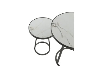 Circles dining table ceramic argile