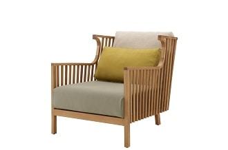 Elizabeth armchair low, teak