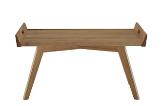 Lupo natural oak side table